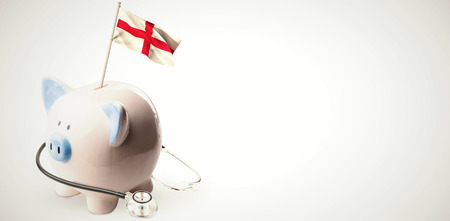 finacial: Digitally generated england national flag against white background with vignette