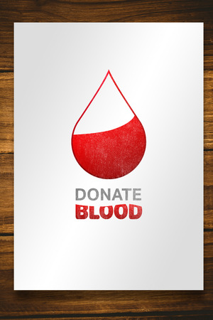 against white: Blood donation against white card Stock Photo