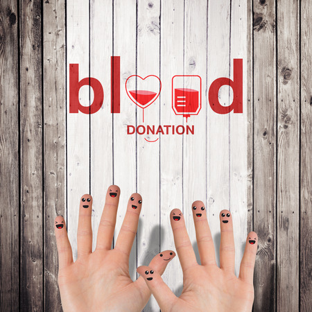 planks: Blood donation against wooden planks