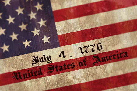 weathered: independence day against weathered surface