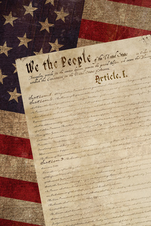 declaration: declaration of independence against weathered surface Stock Photo