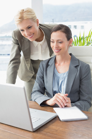 young business people: Businesswomen working together in an office