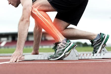 Digitale samenstelling van Opvallende beenderen van de mens over om te racen
