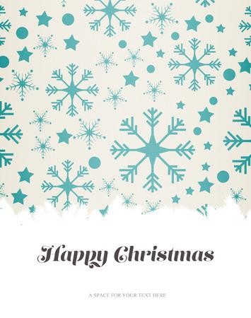 boldog karácsonyt: Happy Christmas against snowflake pattern