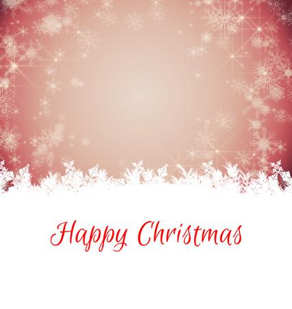 boldog karácsonyt: Happy Christmas against white snowflake design on red