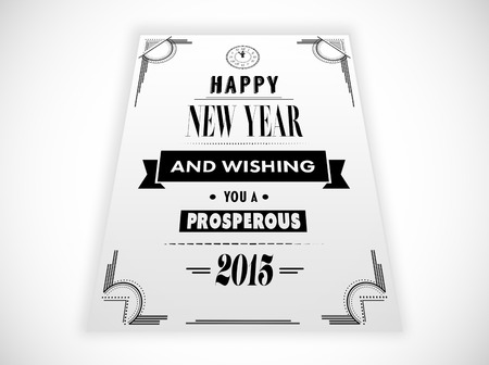 prosper: Happy new year message against white background with vignette