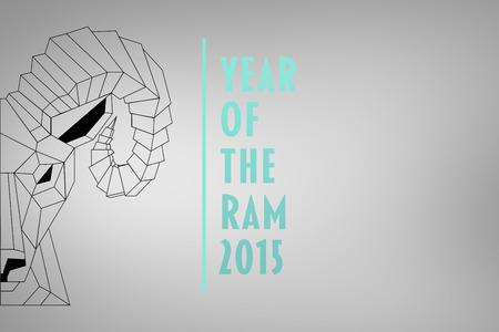 rams: Half rams head against grey vignette