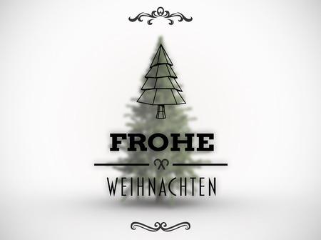 weihnachten: Frohe weihnachten banner against white background with vignette