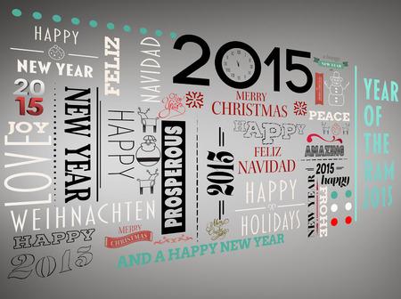 jumble: Holidays word jumble against grey vignette