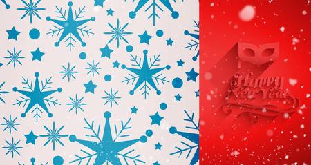 snow falling: Snow falling against snowflake pattern