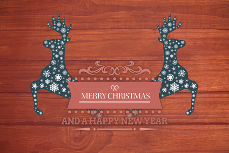 floorboard: Merry christmas message against overhead of wooden planks