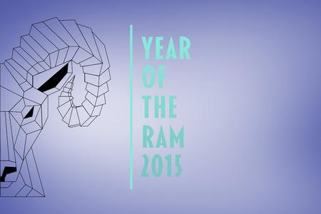 rams: Half rams head against purple vignette
