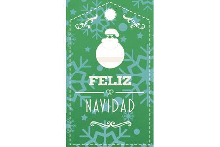 feliz: Feliz navidad banner against snowflake wallpaper pattern