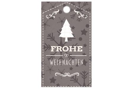 weihnachten: Frohe weihnachten banner against snowflake wallpaper pattern Stock Photo