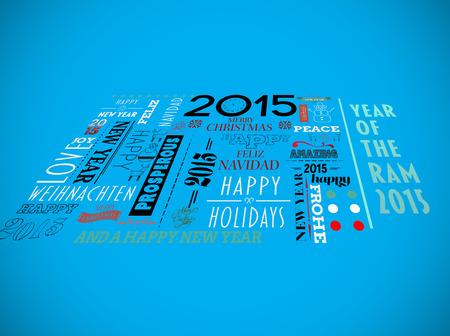 revoltijo: Vacaciones palabra revoltijo contra el fondo azul con la ilustraci�n Foto de archivo