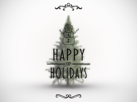 happy holidays: Happy holidays banner against white background with vignette