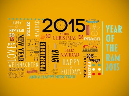 jumble: Holidays word jumble against yellow background with vignette Stock Photo