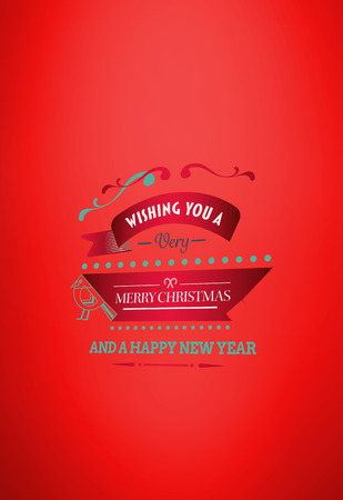 vignette: Merry christmas message against red vignette