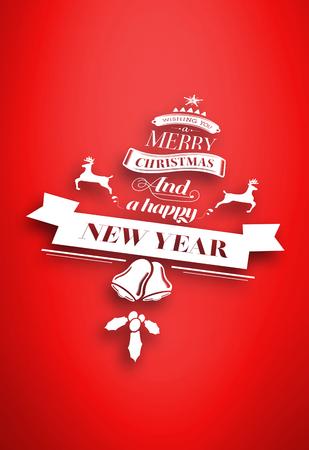 vignette: Christmas message against red vignette