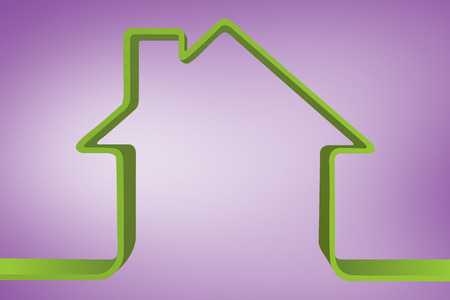 house outline: House outline against purple vignette