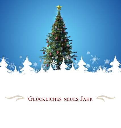 border against christmas tree Reklamní fotografie
