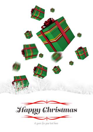 boldog karácsonyt: border against happy christmas