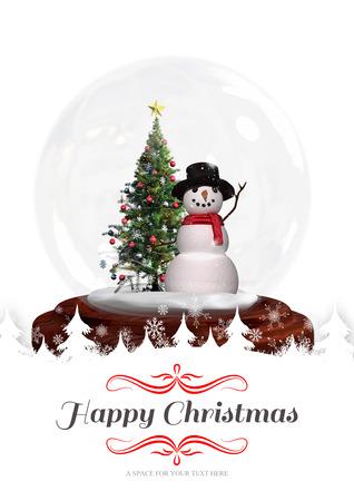 happy christmas: border against happy christmas