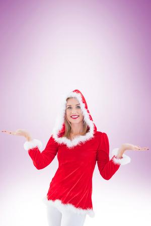 pere noel sexy: Blonds tenue festive remet sur la vignette fond