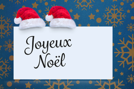 joyeux: Joyeux noel against snowflake wallpaper pattern
