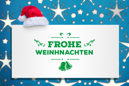 frohe: frohe weinhnachten against snowflake wallpaper pattern