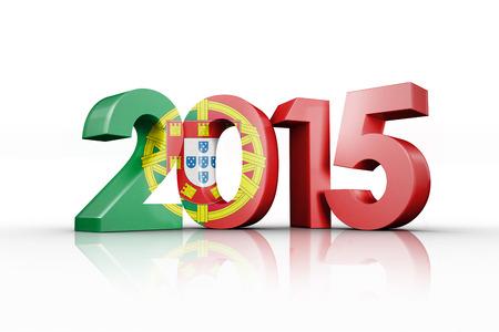 bandera de portugal: bandera nacional de Portugal contra 2015 Foto de archivo