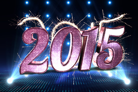 sparkly: Sparkly 2015 against cool nightlife lights