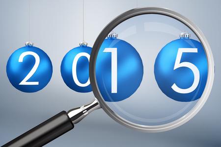 vignette: Magnifying glass against grey vignette Stock Photo