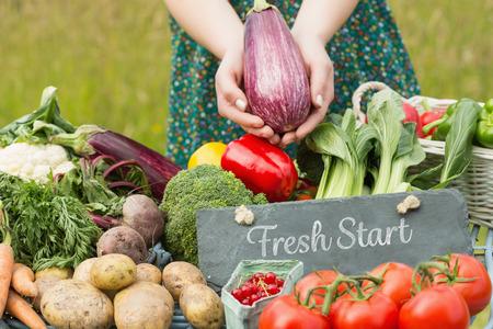 frisse start: Verse start tegen groenten op boerenmarkt