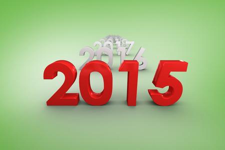 vignette: 2015 red against green vignette Stock Photo