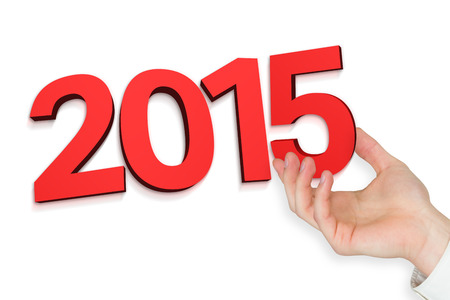 presenting: Hand presenting against 2015 Stock Photo