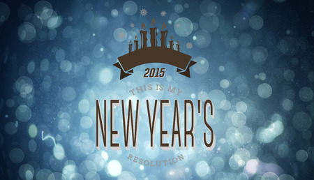 new years resolution: New years resolution against blue abstract light spot design Stock Photo