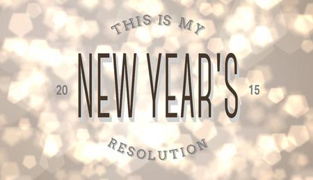 new years resolution: New years resolution against light glowing dots design pattern