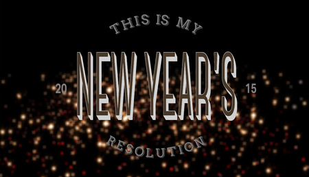 new years resolution: New years resolution against red and gold glittering light Stock Photo