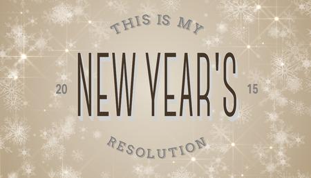new years resolution: New years resolution against white snowflake design on cream