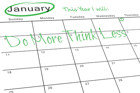 aspirational: This year I will against january calendar