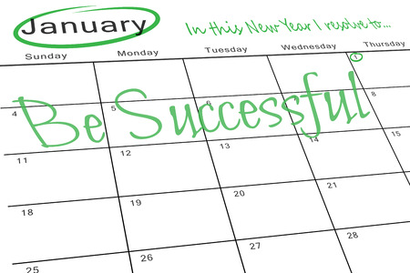 aspirational: in this new year I resolve to against january calendar