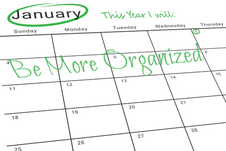 this: This year I will against january calendar