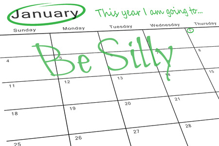 aspirational: this year i am going to against january calendar Stock Photo