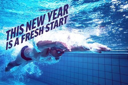 frisse start: Fit zwemmer training door zich tegen het nieuwe jaar nieuwe start