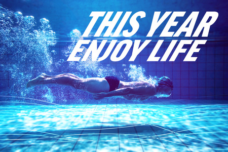 enjoy life: Fit swimmer training by himself against this year enjoy life