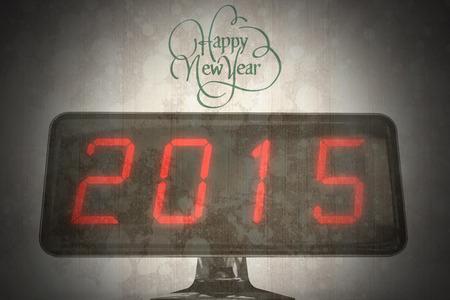 splattered: happy new year against paint splattered paper Stock Photo