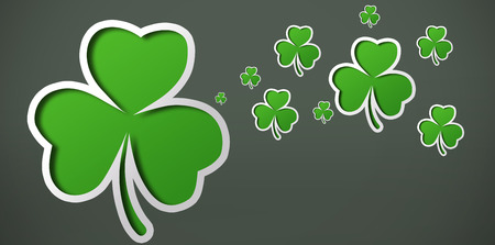 saint patty: Many shamrocks on a grey background