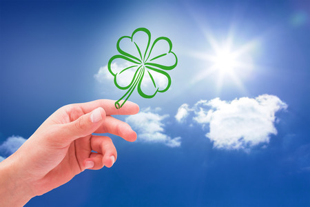 saint patty: Shamrock against sky