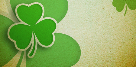 saint patty: Green shamrocks on a wall design
